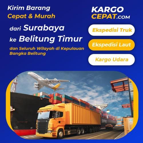 ekspedisi surabaya belitung-timur